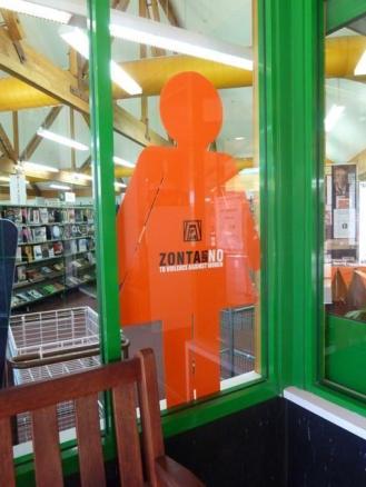 Zonta Marlborough orange woman window