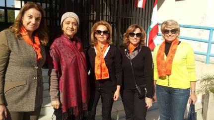 orange scarves