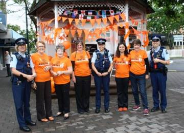 Zonta Club East Auckland and Macleans Z Club with police