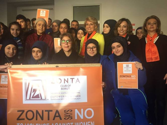 Zonta Says NO banner and signs