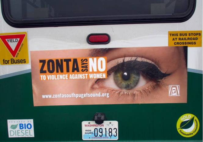 Zonta Says NO bus ad