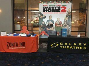 Zonta Club of Porterville movie display