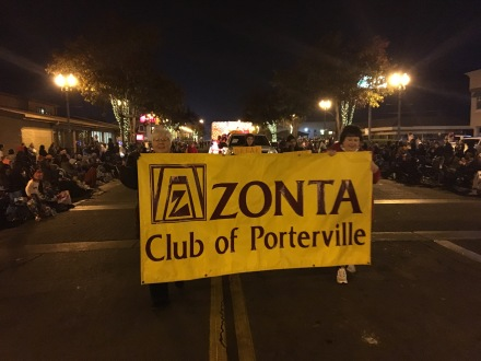 Parade Zonta Club of Porterville banner