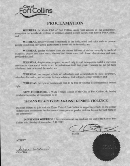 Proclamation Fort Collins