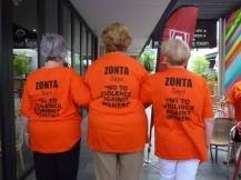 Zonta Club of Gawler Inc shirt backs