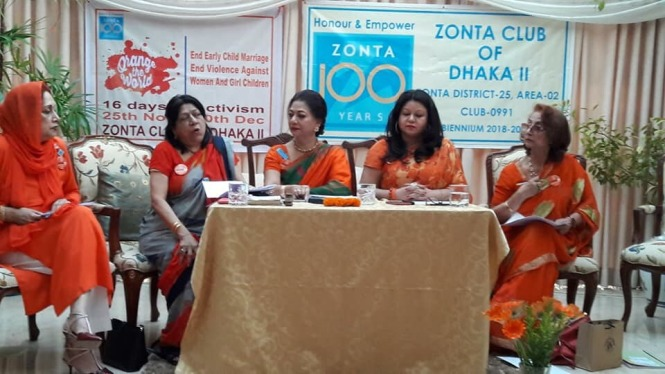 Board members of Zonta Club of Dhaka II