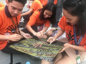 Student slogan-making contest